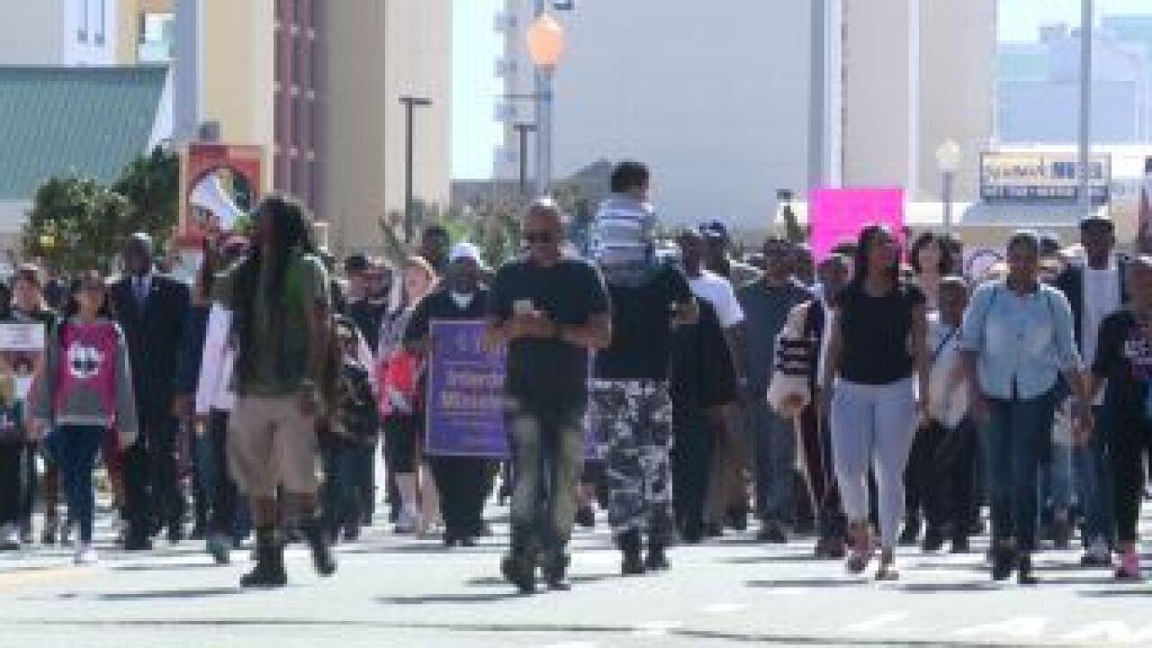 Hundreds march along Virginia Beach Oceanfront to enddiscrimination