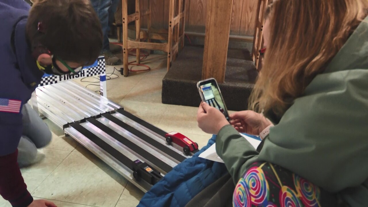 Pinewood Derby is underway in East Helena