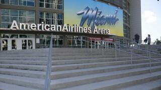 AmericanAirlines Arena exterior March 2020