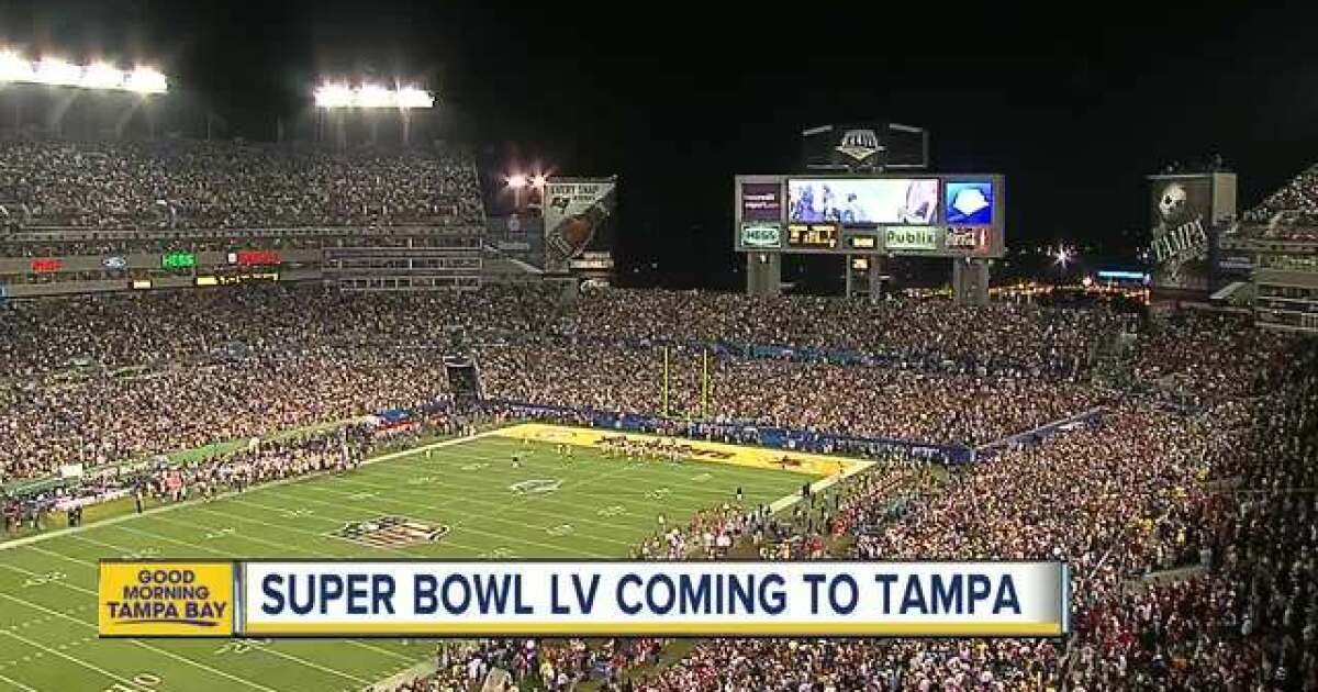 super bowl lv moved to tampa s raymond james stadium after unanimous vote super bowl lv moved to tampa s raymond