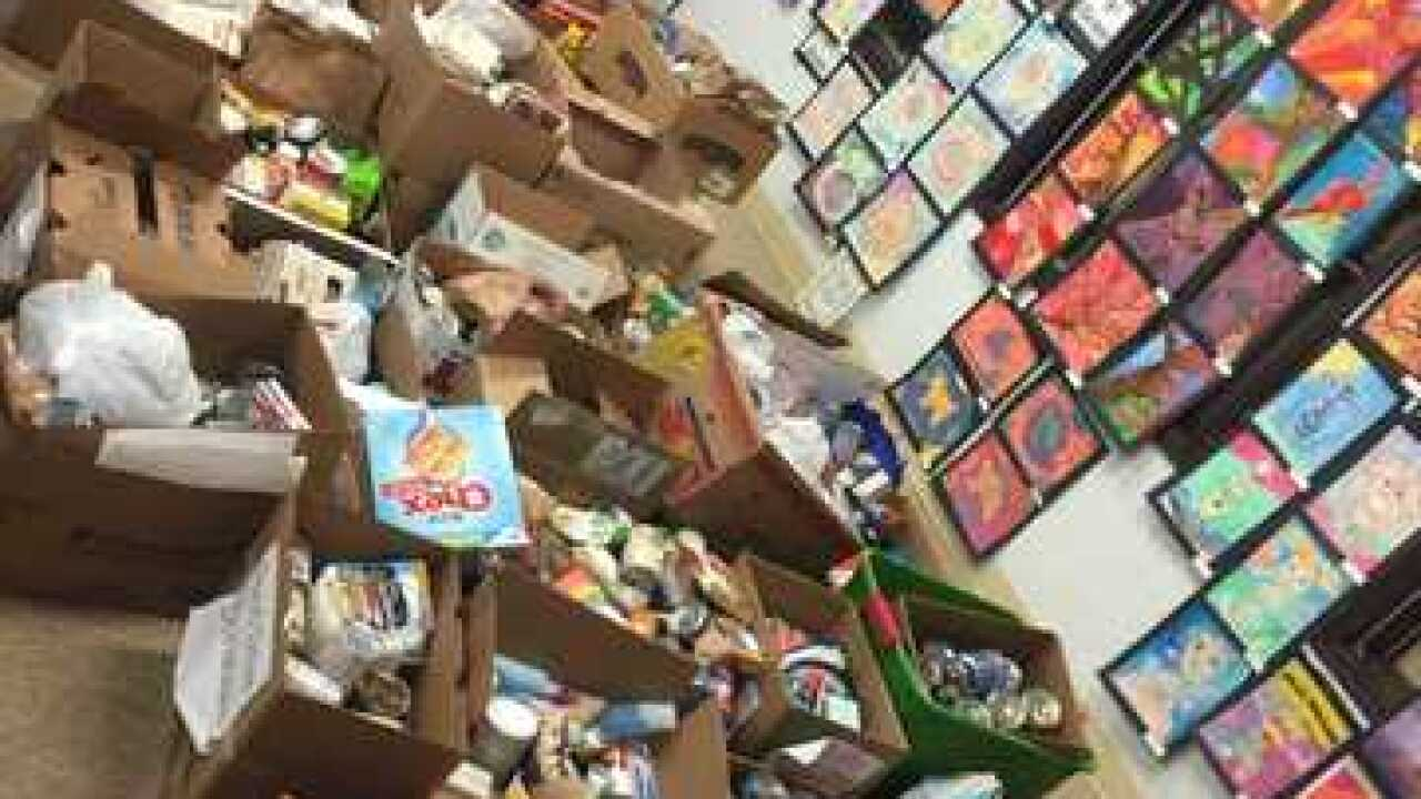 Students collect items for veterans in need