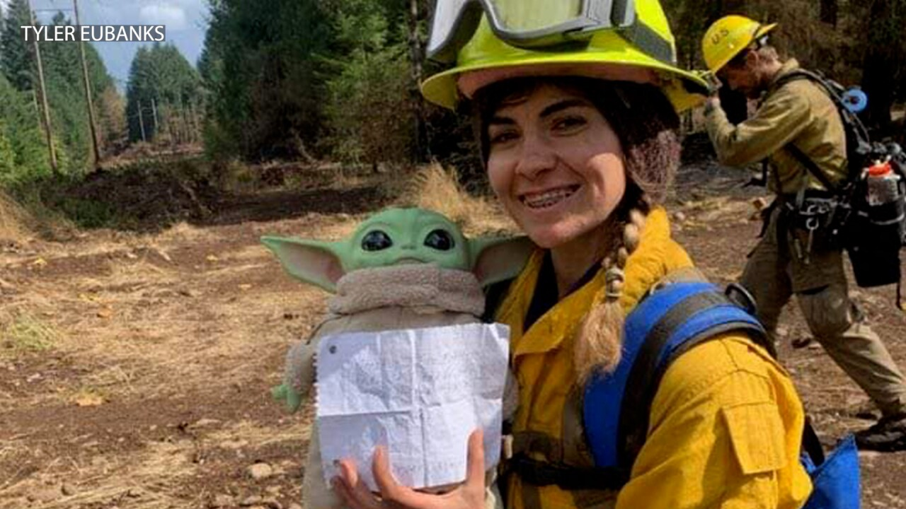 Baby Yoda is bringing the Force to firefighters