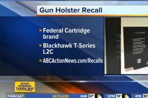 Blackhawk gun holsters sold at Bass Pro Shops, other sporting stores recalled due to design flaw