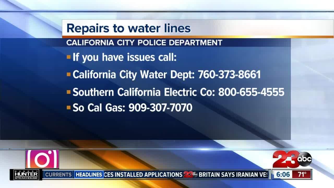 California City Water Line Repair Work