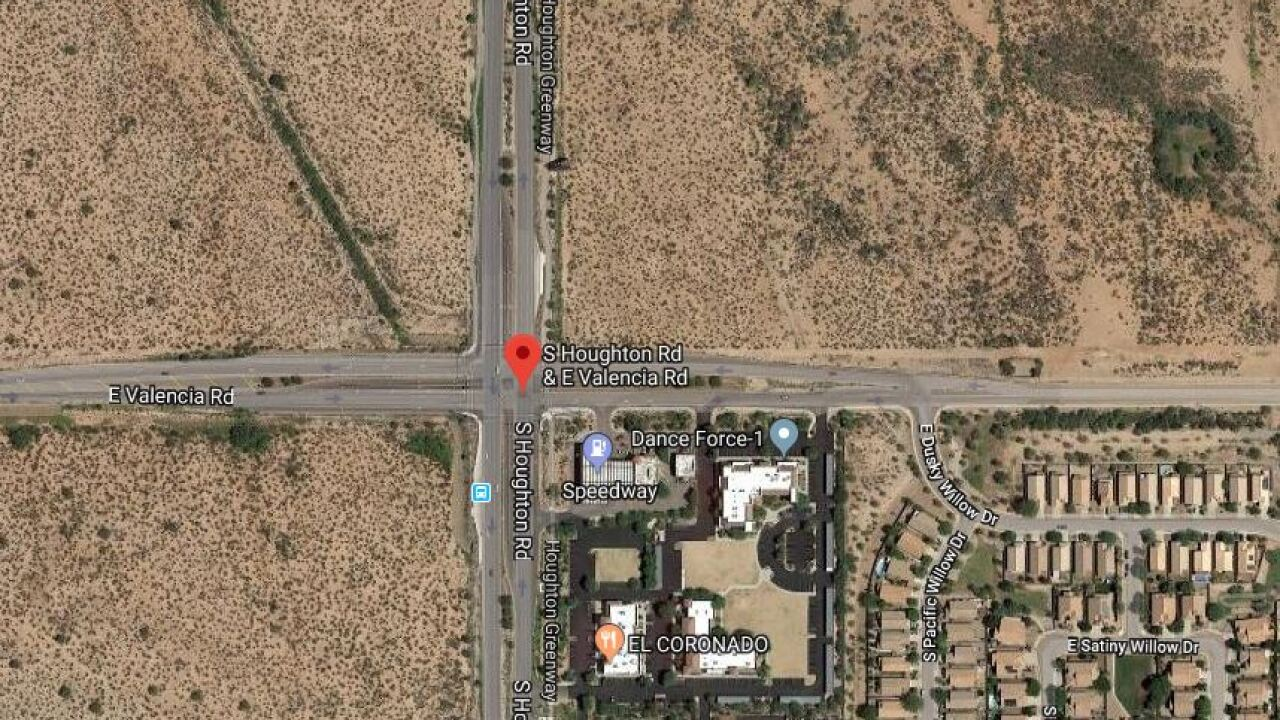 A male pedestrian was treated for life-threatening injuries Thursday after being hit near Valencia and Houghton.