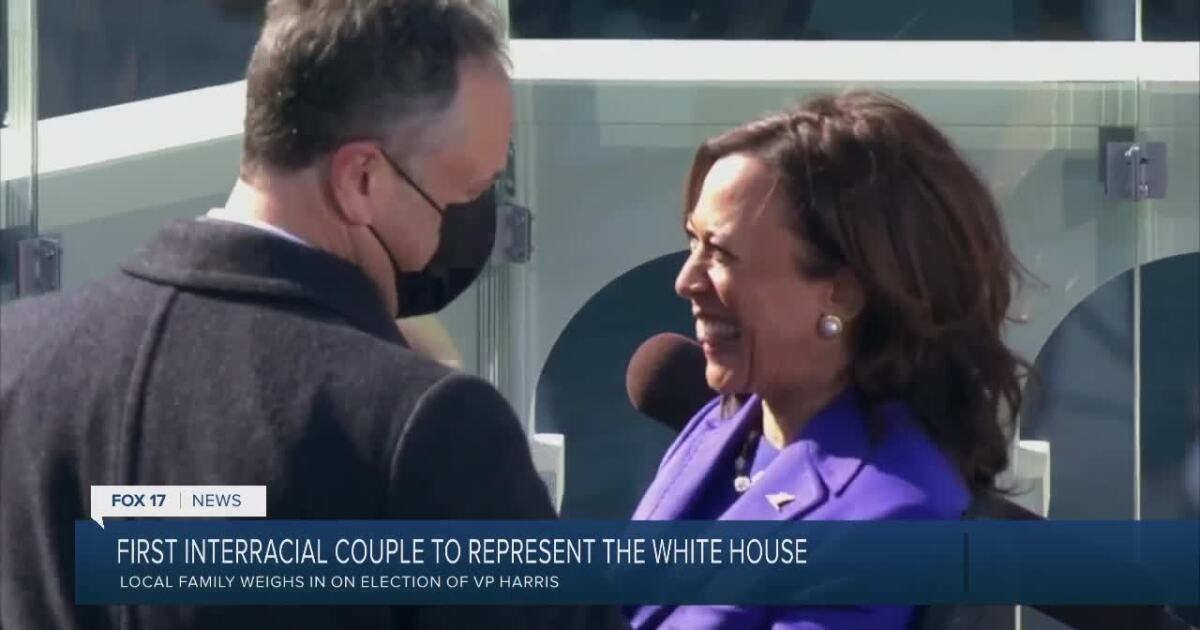 Harris and Emhoff, a victory for interracial couples; 'I could see my wife as being VP'