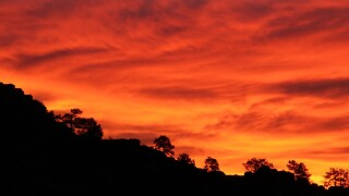 Fiery Colorado Springs sunrise