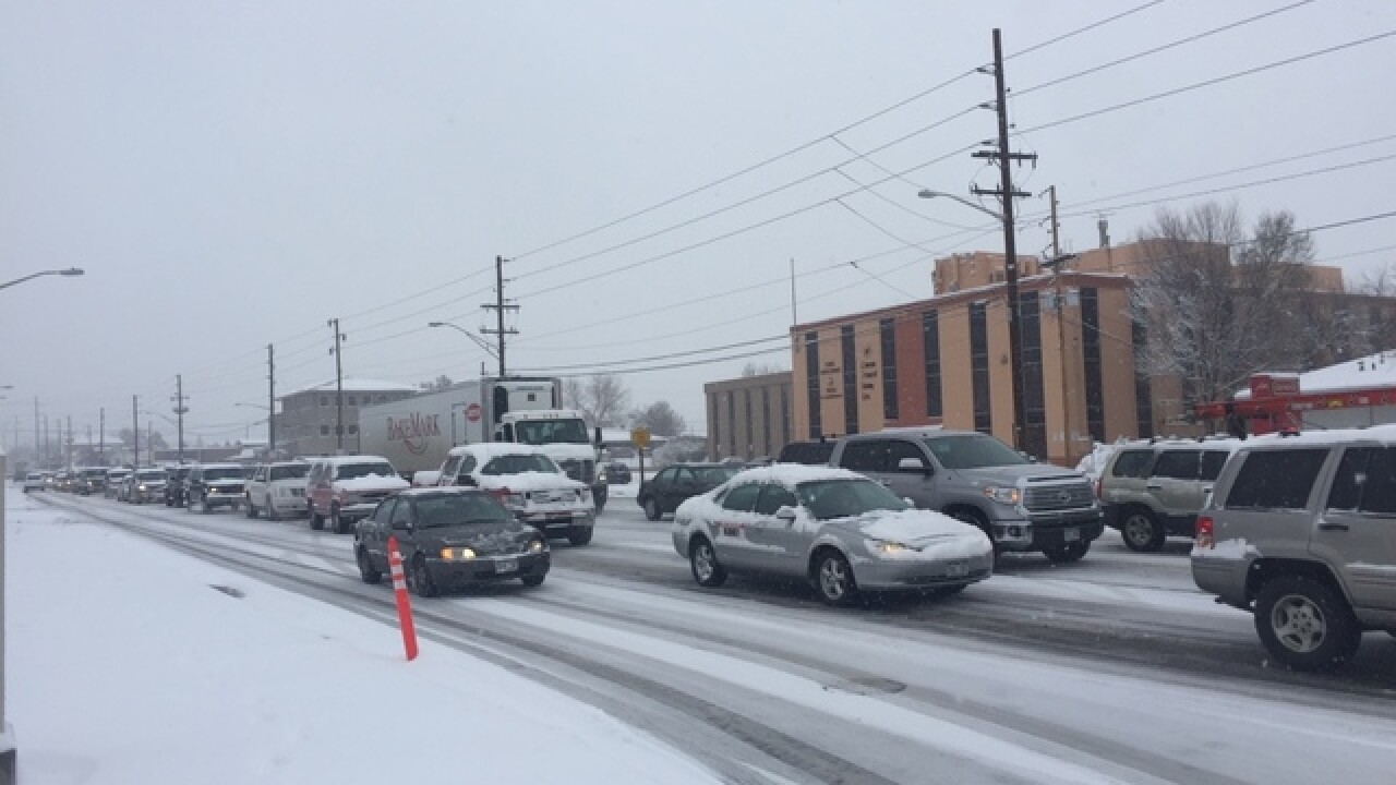 Multiple cars stuck on Wadsworth at Mississippi