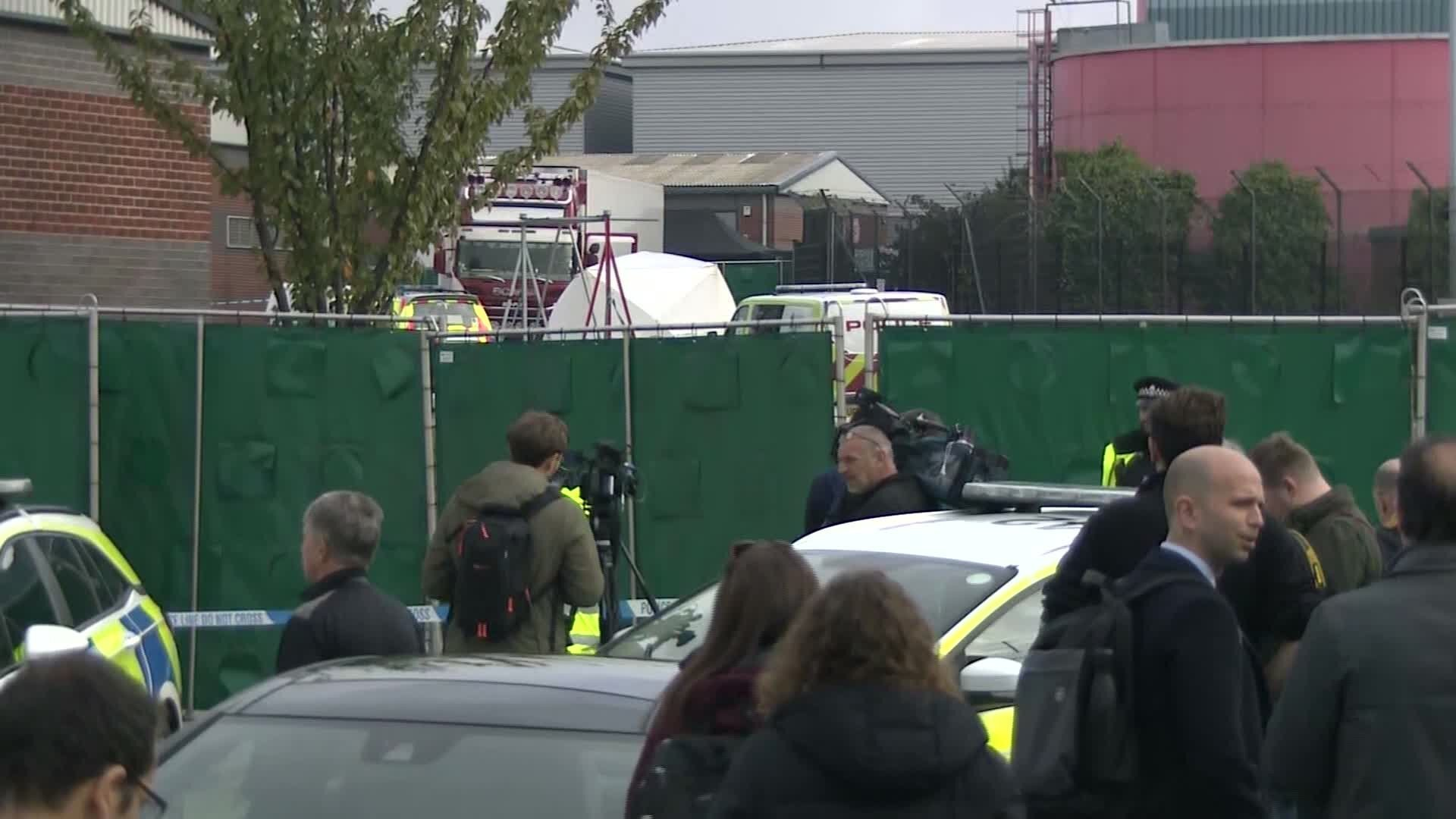 Photos: Murder probe launched after 39 bodies found in truck container in southeastEngland