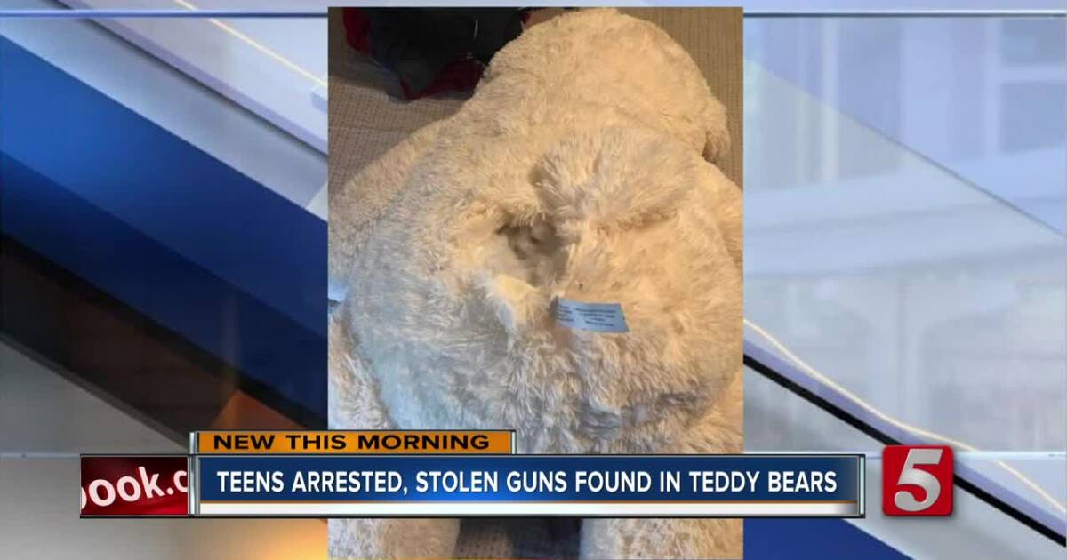 Teens arrested after police find guns hidden in teddy bear