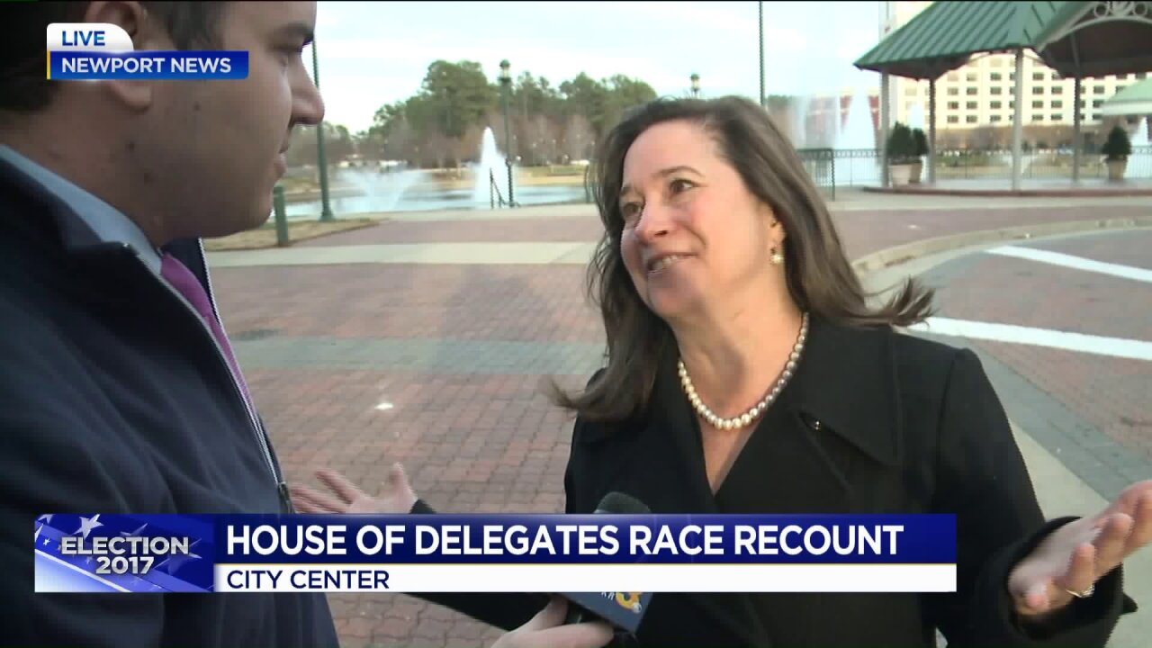 Va. House of Delegates at 50/50 political party split after Democrat wins by 1 vote in Newport Newsrecount