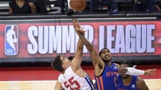 Luka Garza Knicks Pistons NBA Summer League Basketball