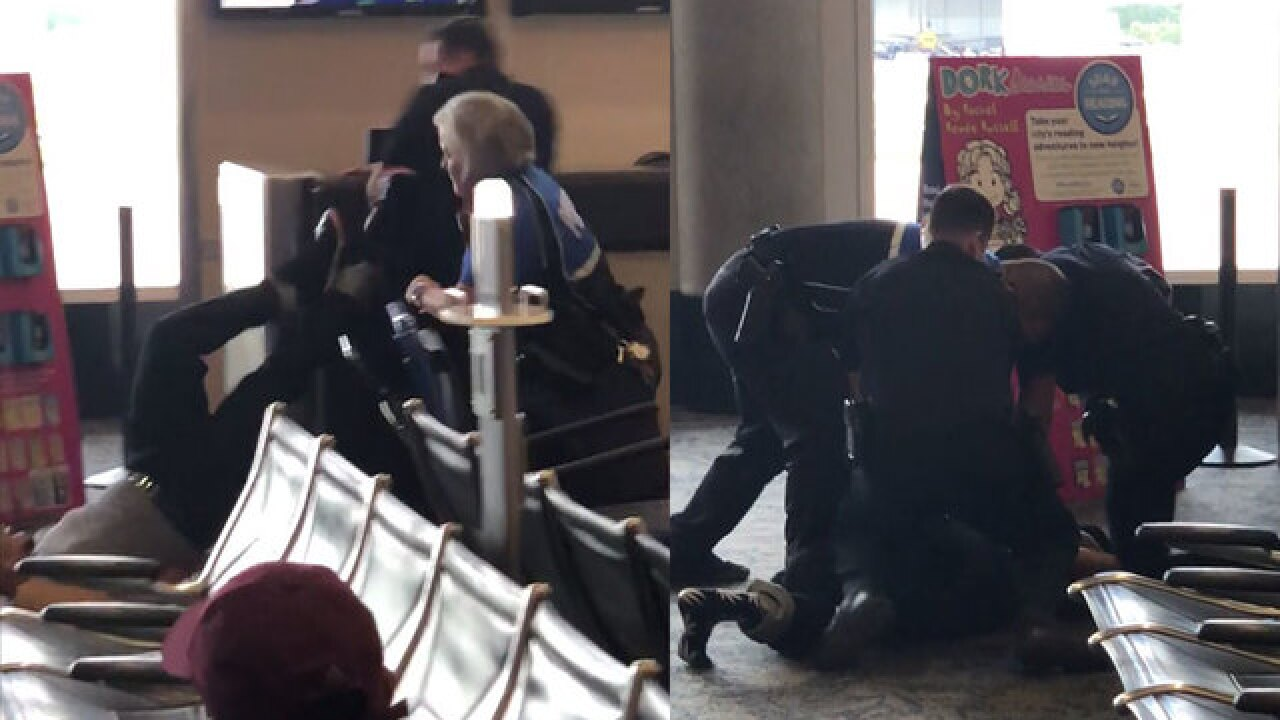 VIDEO: Traveler arrested at Tampa airport