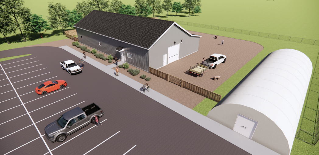 A look at the design for the new agricultural learning center.