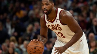 Tristan Thompson scores 5,000th career point, injures left ankle during Bucks game