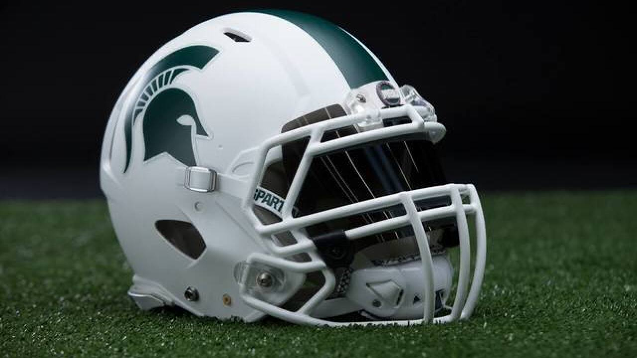 Michigan State football unveils all-white helmet, uniform