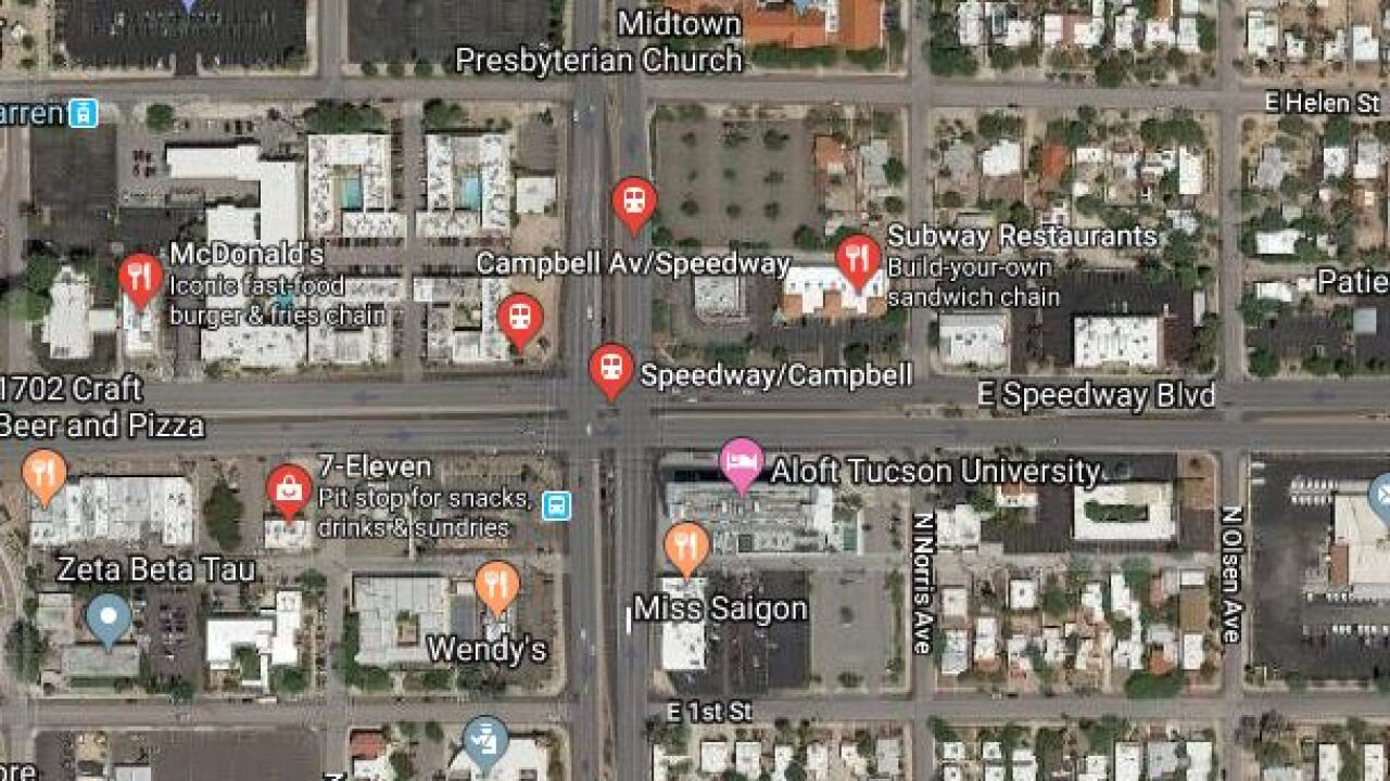 Tucson police say traffic lights went out at Speedway and Campbell Wednesday. Image from Google Maps.