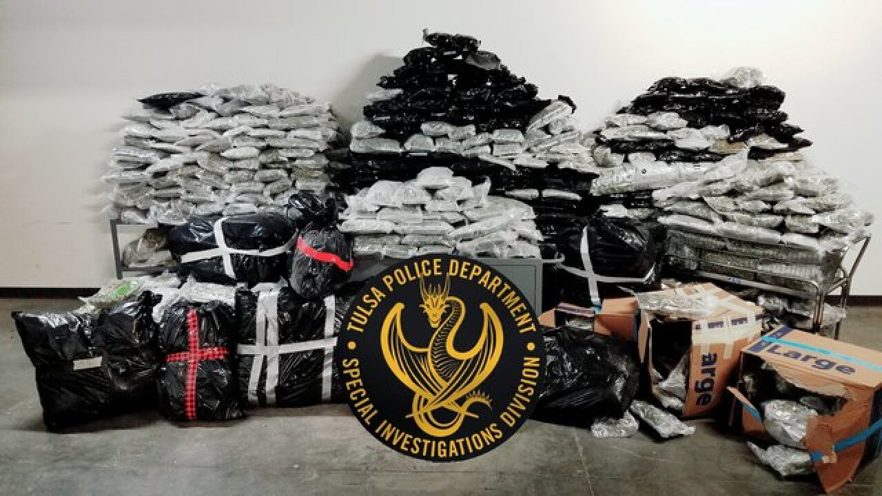 Tulsa police seize 1,485 pounds of marijuana