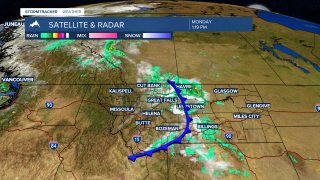 Late afternoon to early evening thunderstorms are possible for SW Montana