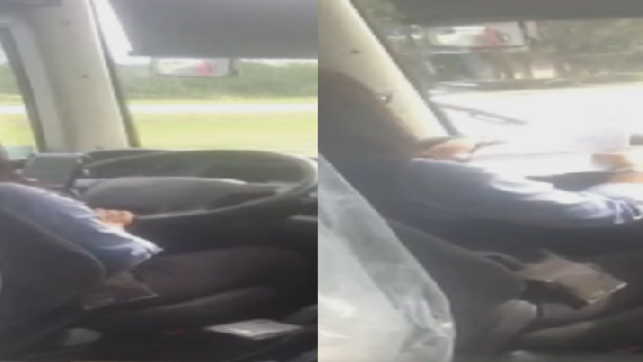 Rider shares video of RedCoach driver texting while driving to Tallahassee