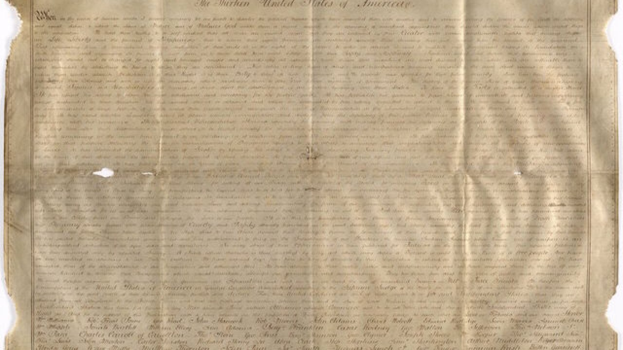 Second copy of the Declaration of Independence found in England