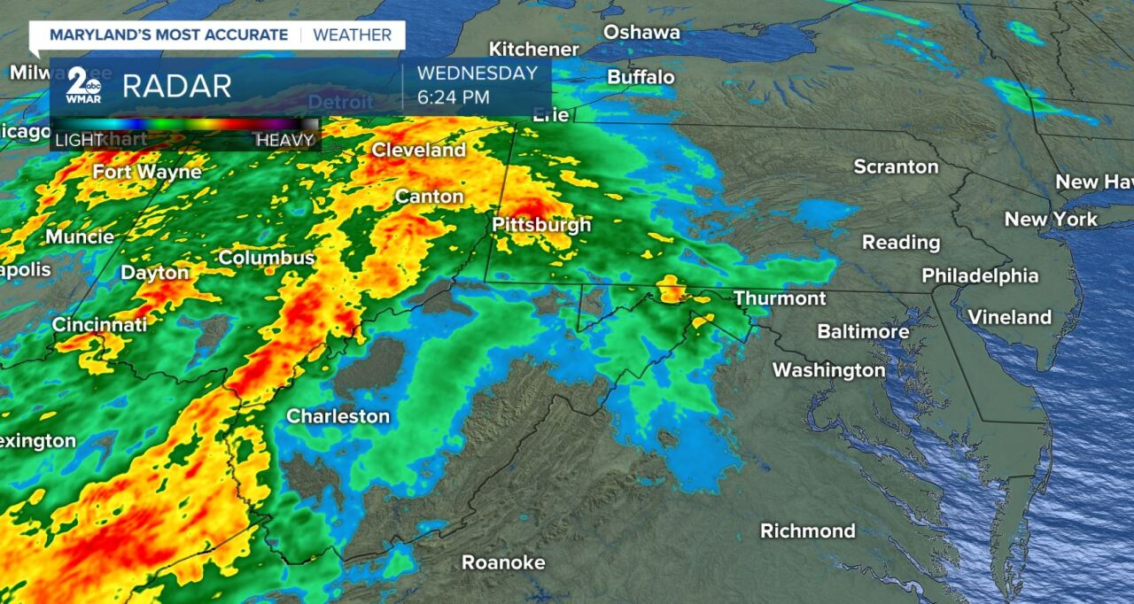 Radar As Of 6:26pm March 18, 2020
