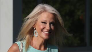 White House Advisor Kellyanne Conway Speaks To Media At White House