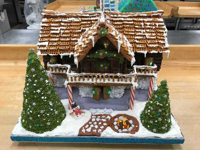 Milwaukee Area Technical College's Gingerbread houses on display