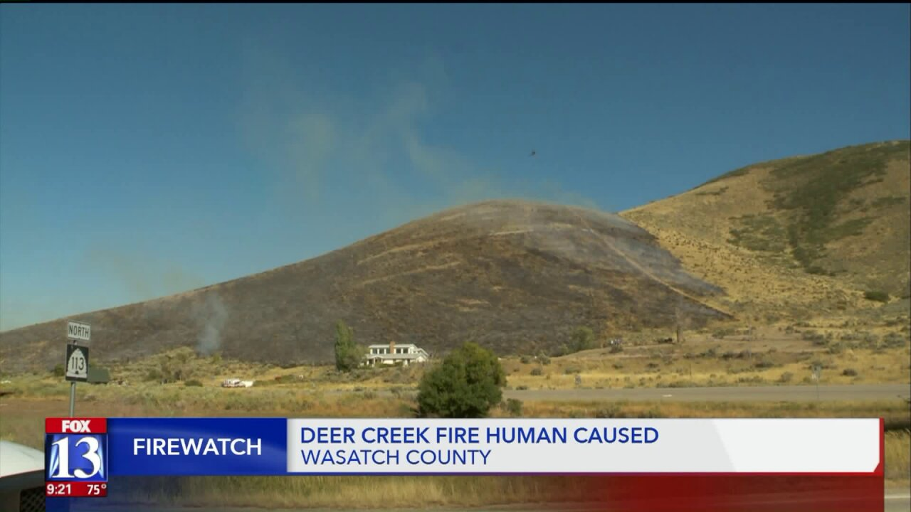 'Deer Creek Fire' closes section of U.S. 189 in Heber Valley