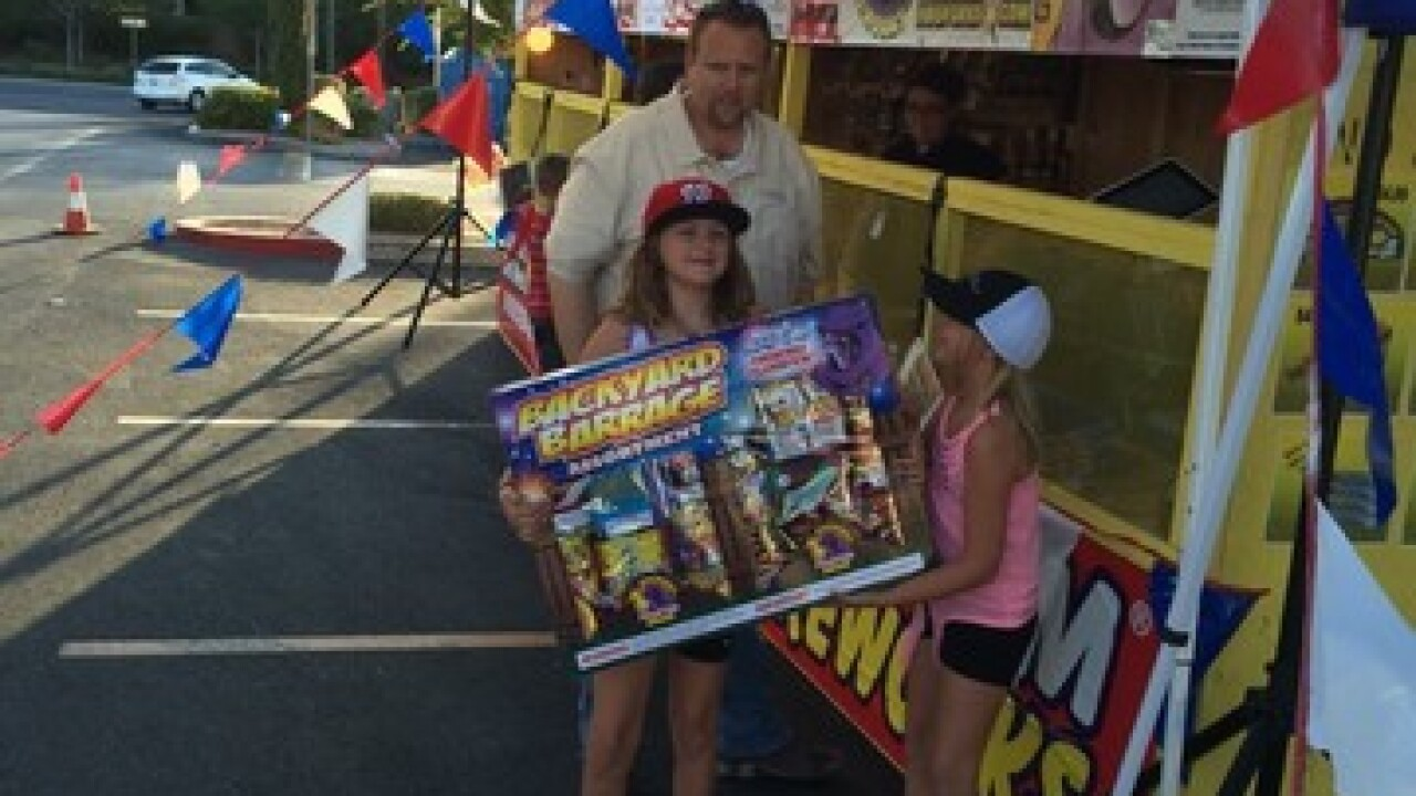 Boys and Girls Clubs fireworks stands
