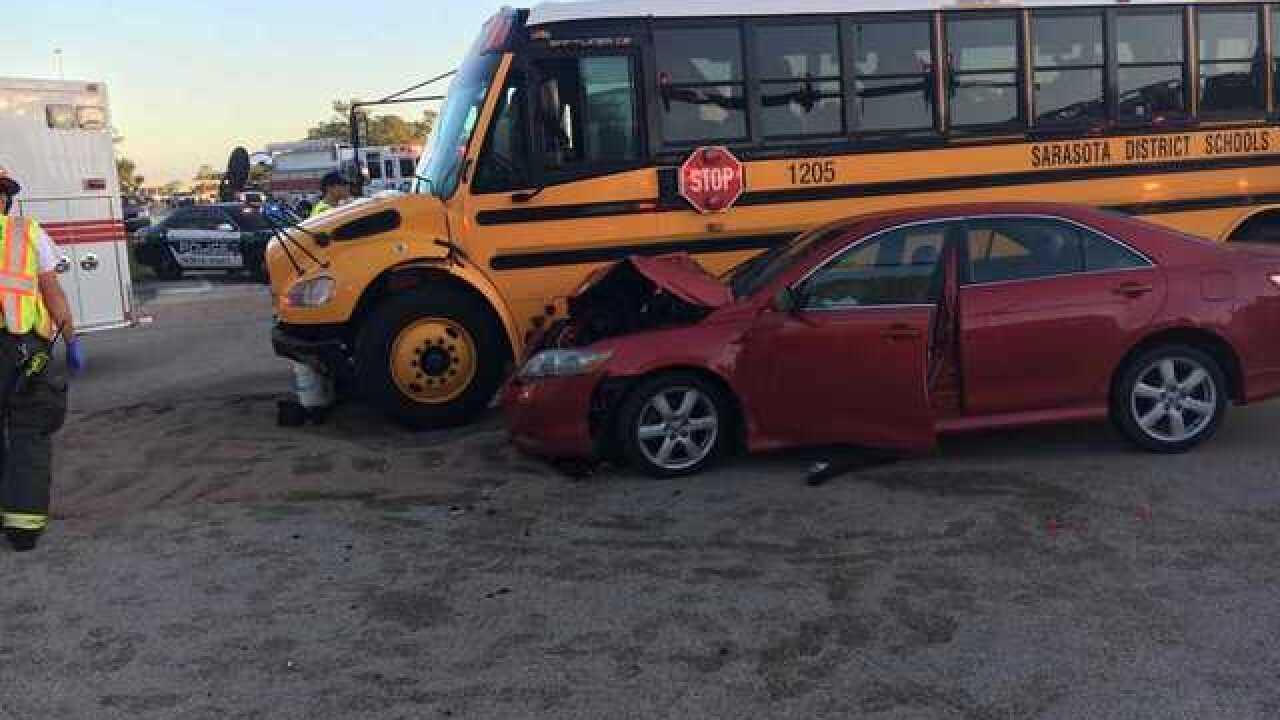 Six injured in North Port school bus crash