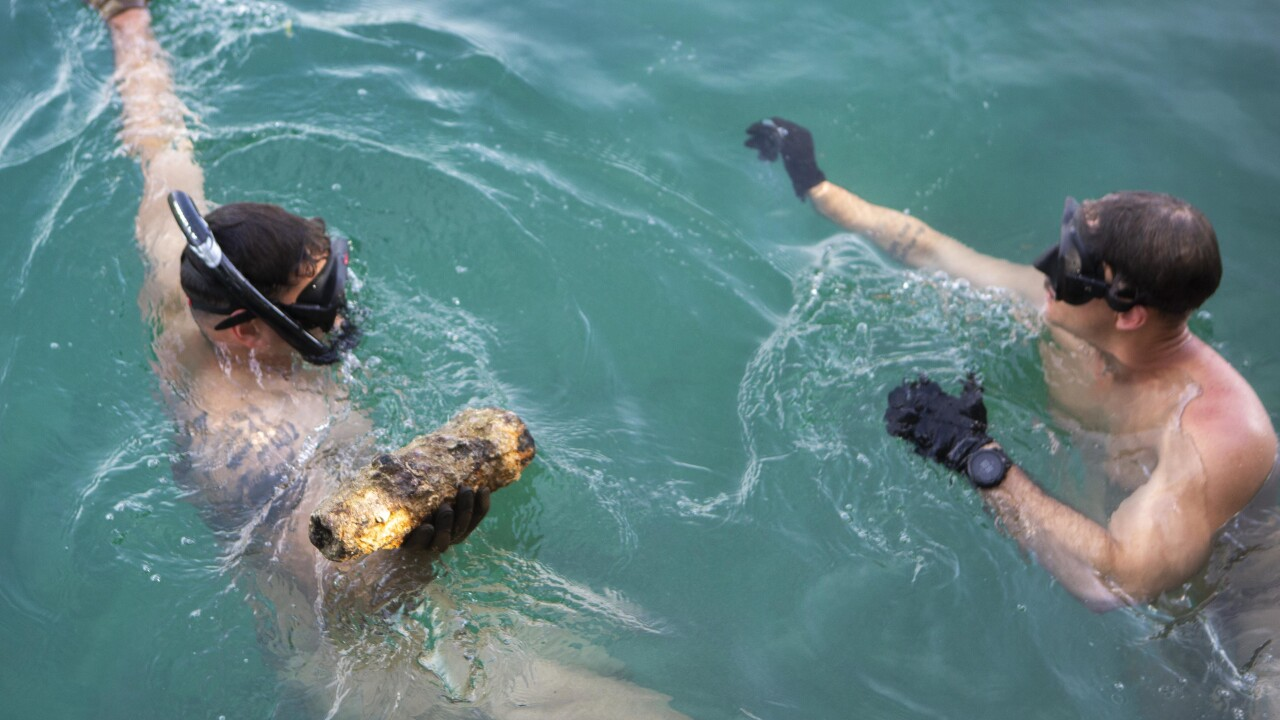 TF KM LEON Marine Find First UXO