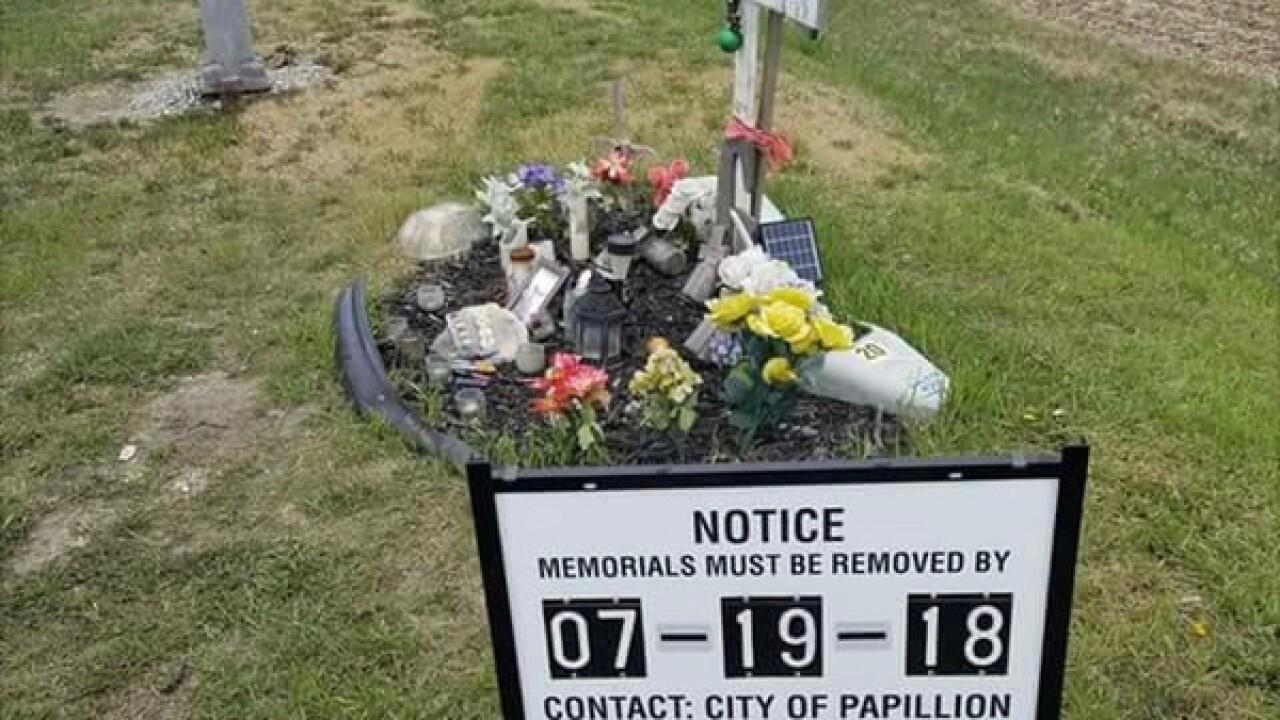 City orders roadside memorial taken down by July