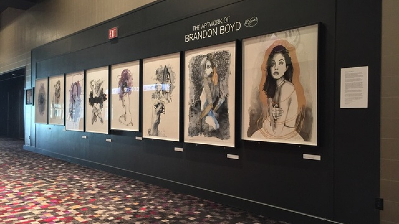 Brandon Boyd fine art display at Hard Rock Hotel & Casino Las Vegas