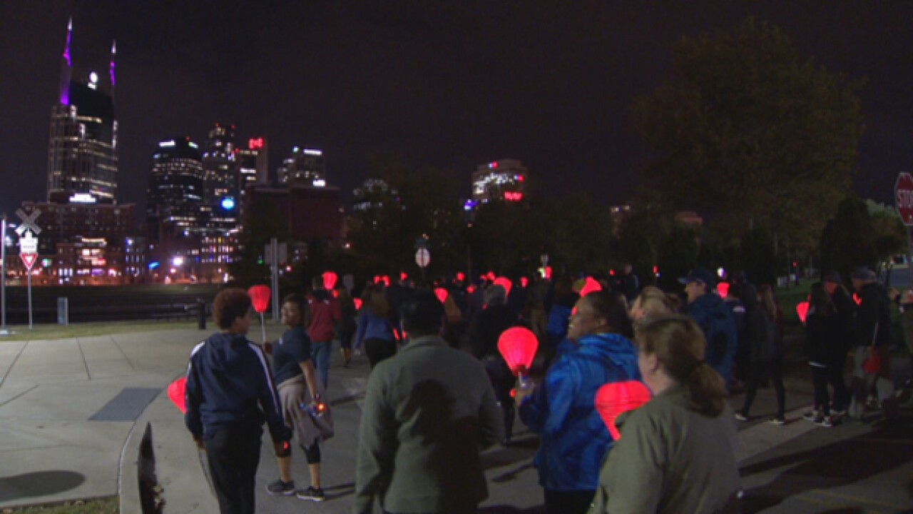 Thousands participate in Light the Night Walk