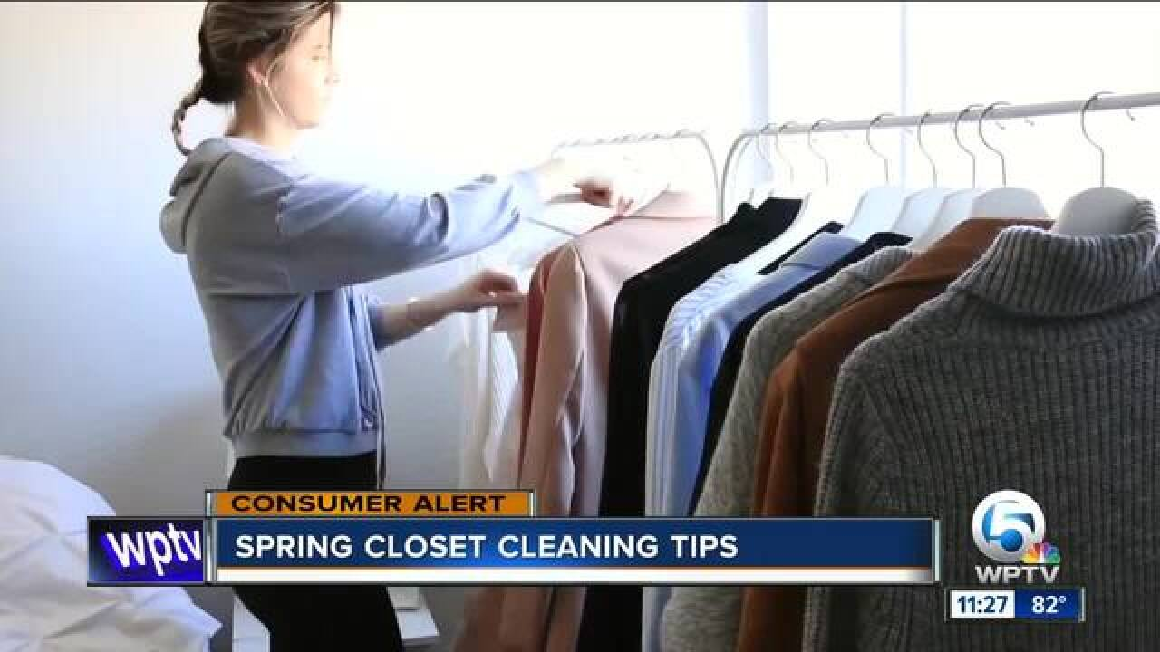 Spring cleaning closet tips