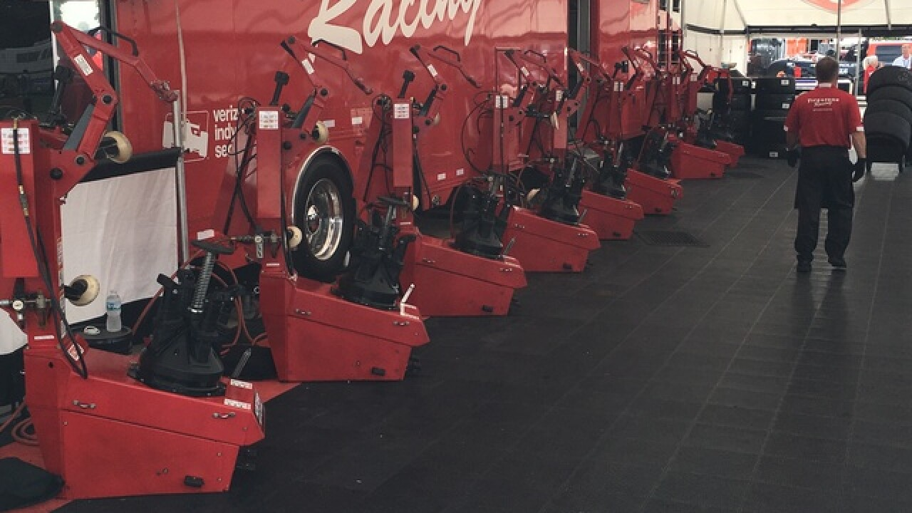 What happens to tires after Detroit Grand Prix?