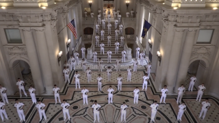 """United States Naval Academy's Glee Club performs Dolly Parton's """"Light Of A Clear Blue Morning"""""""