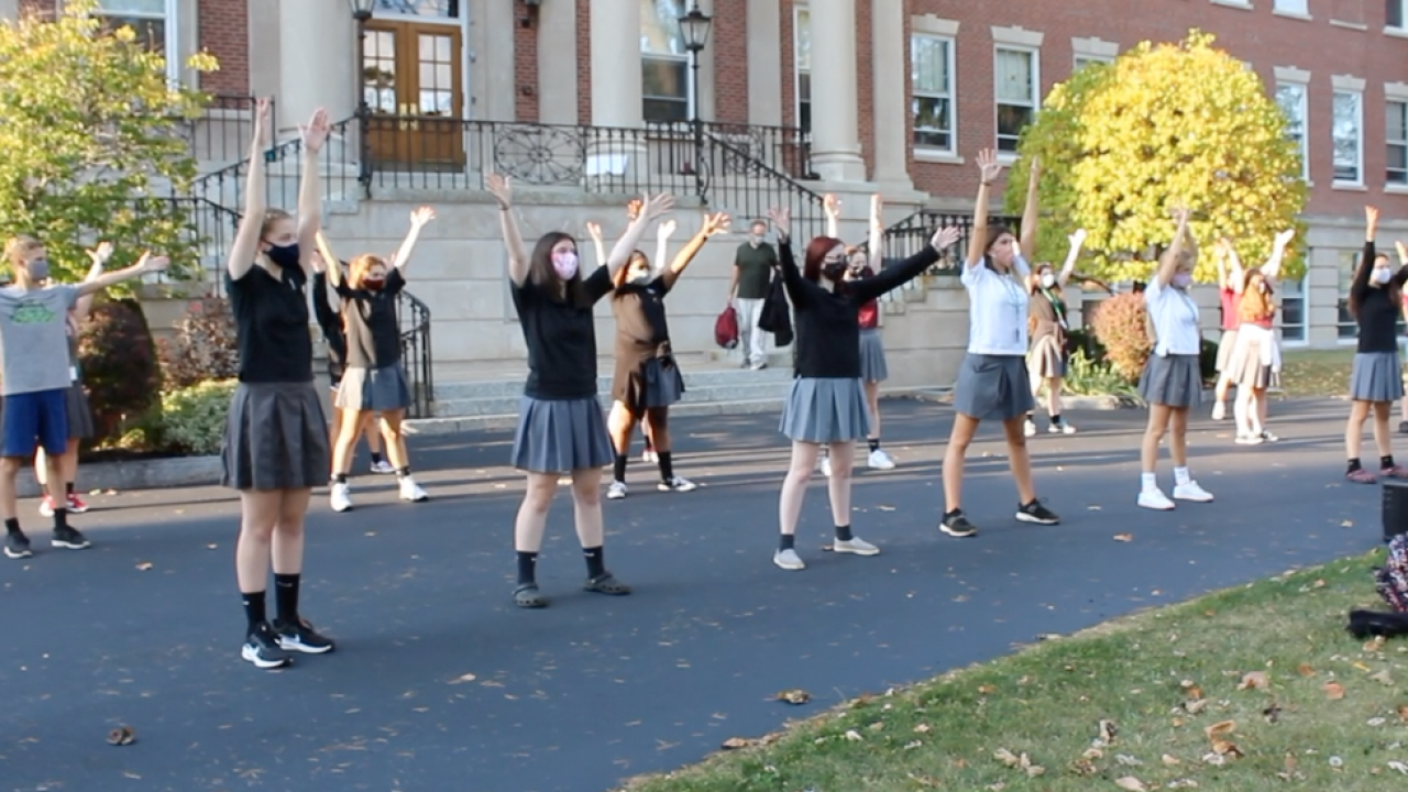 Sacred Heart students feel like movie stars, recording their fall musical