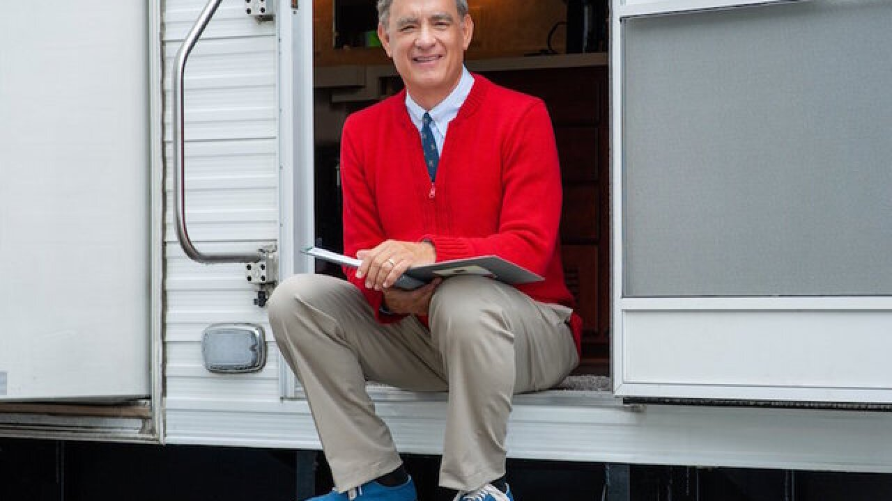 The first picture of Tom Hanks as Mister Rogers is what you need today
