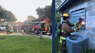 Firefighters extinguished a house fire early Saturday morning in Fort Pierce.
