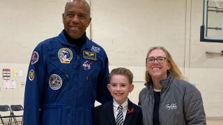 Veteran NASA Astronaut visits local school and Sylvan Learning