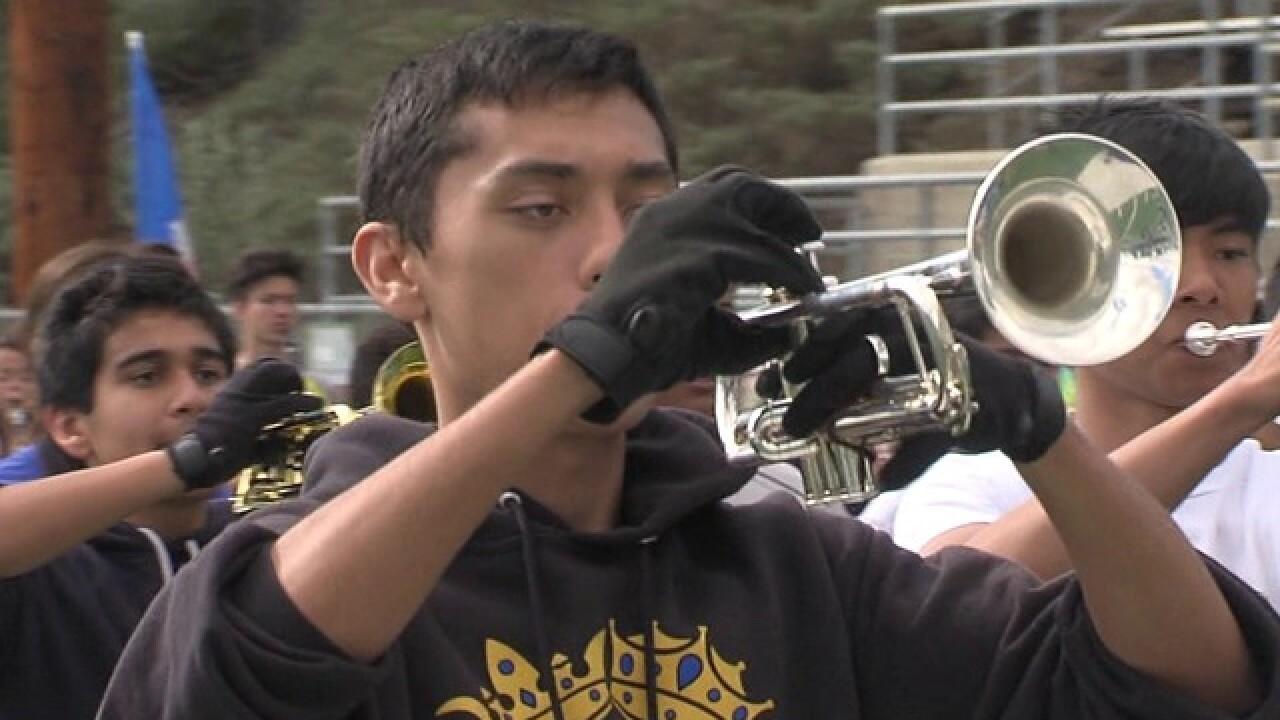 Mira Mesa HS Band heads to Rose Parade