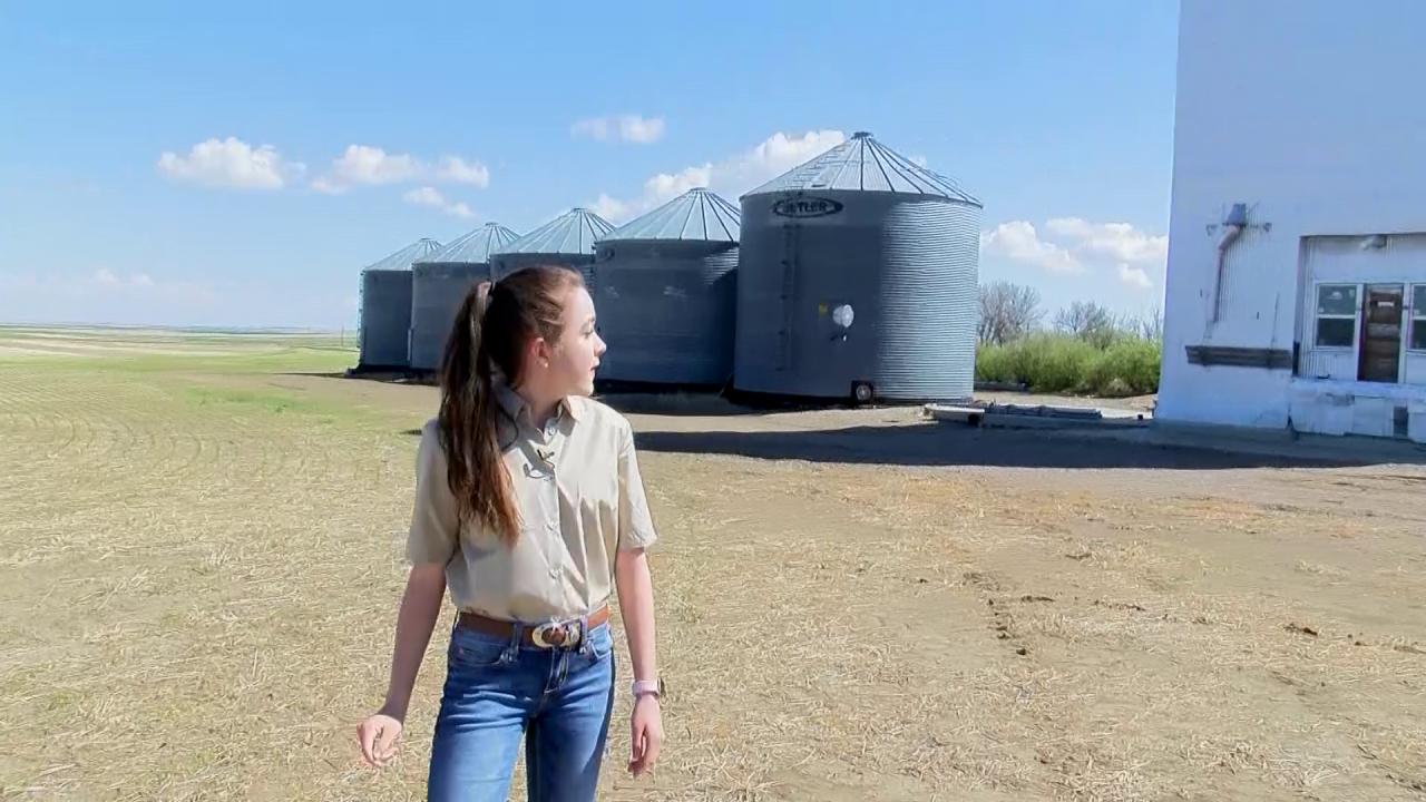 Kate Stephens on the farm