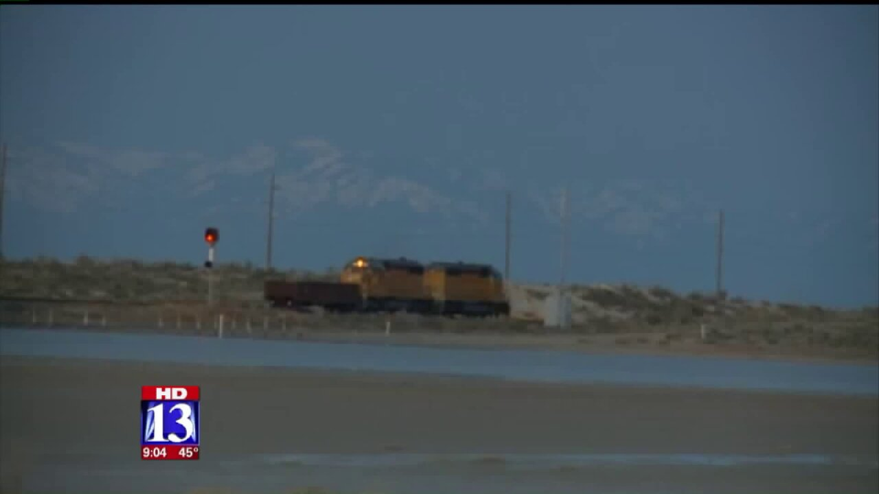 Train car loses control in TooeleCounty