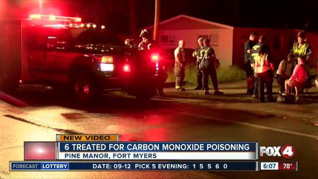 6 treated for carbon monoxide poisoning