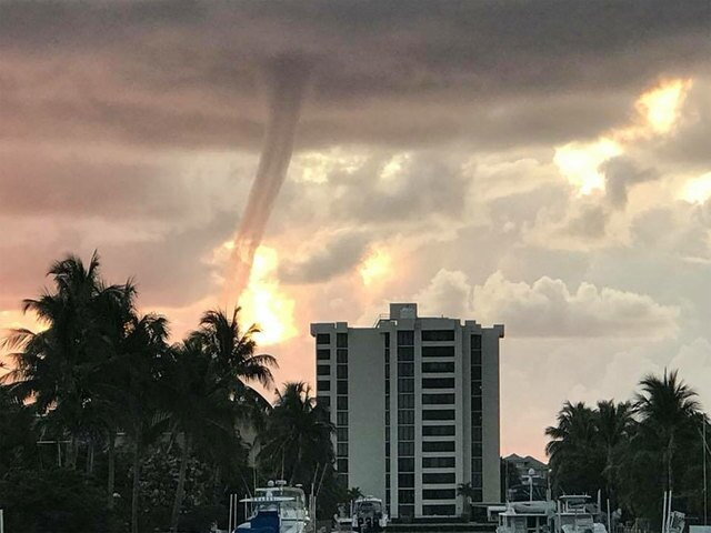 PHOTOS: Waterspout in Delray Beach