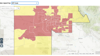 Maricopa County COVID-19 dashboard - cropped