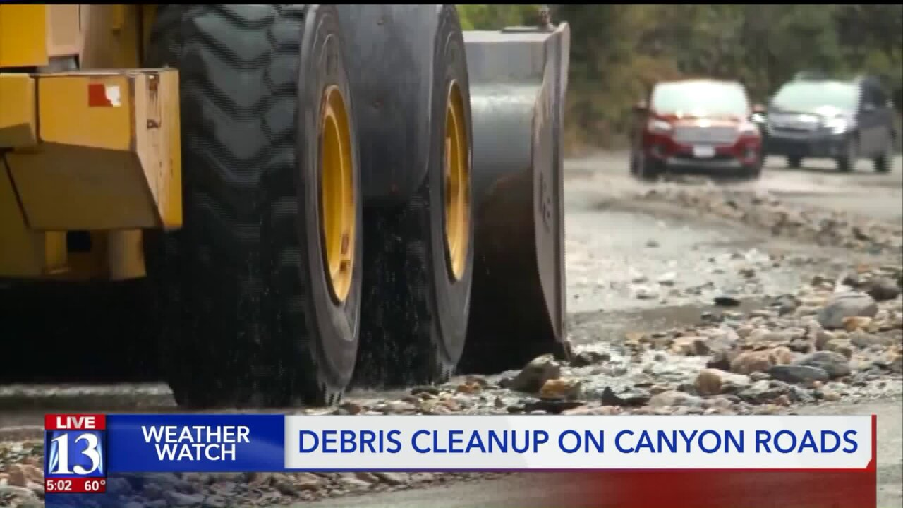 Heavy rains trigger washouts in Big and Little CottonwoodCanyons