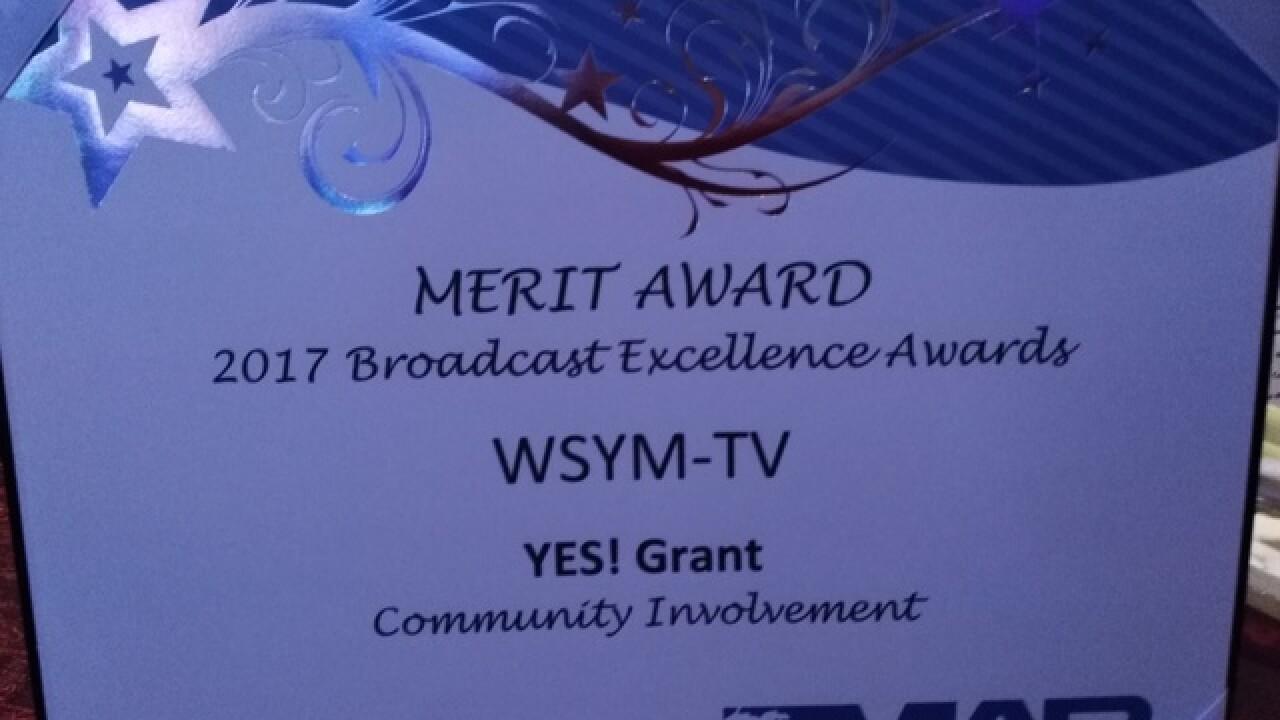 WSYM earns Merit Award at MAB Awards